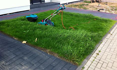 Rasen, Rasenmäher, Vorgarten, Rasen anlegen, Aussenanlagen, Bosch Rotak